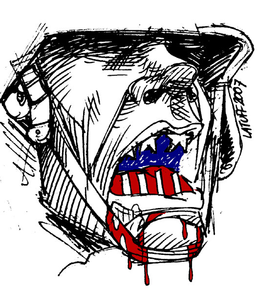 War criminal by Latuff2
