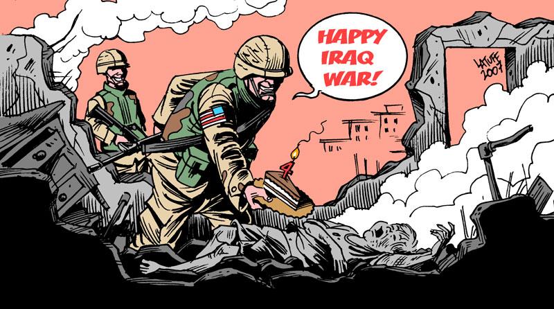 Carlos Latuff - Caricaturista Revolucionario 4th_anniversary_of_Iraq_War_B_by_Latuff2