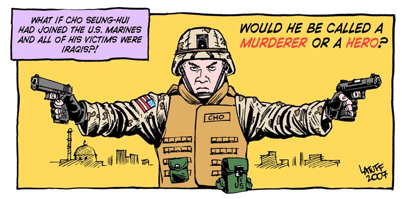 Cho Seung Hui by Latuff2