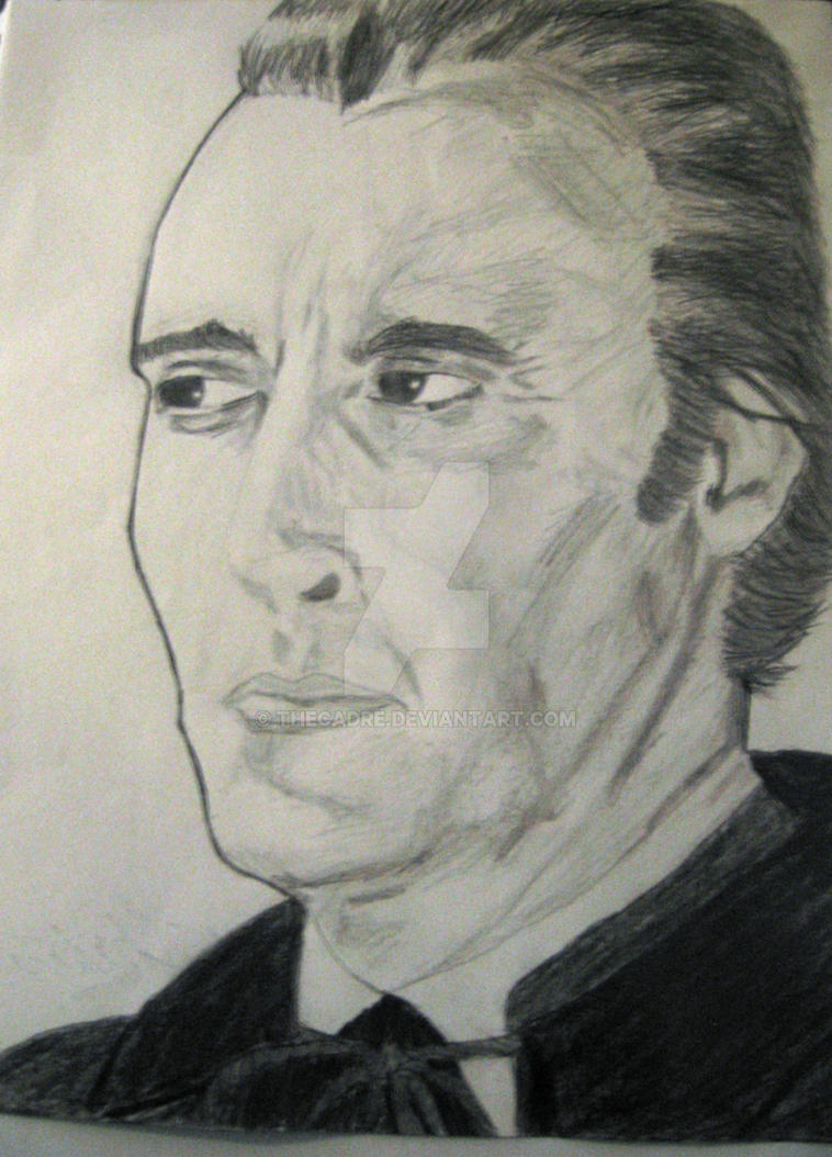 Christopher Lee drawing by TheCadre