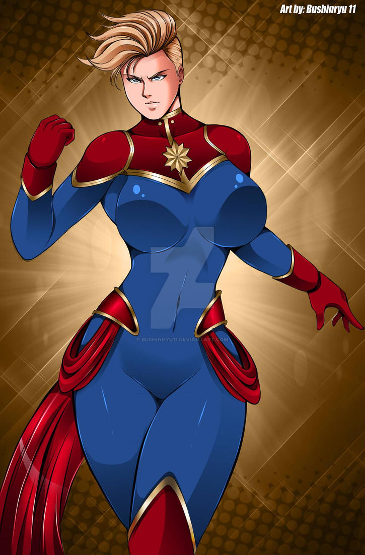 Captain Marvel Fanart by Bushinryu11