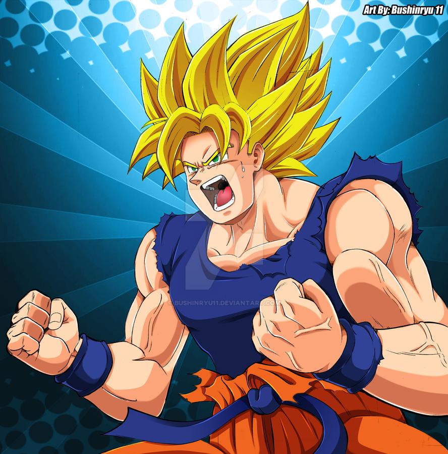 Son Goku Fanart by Bushinryu11