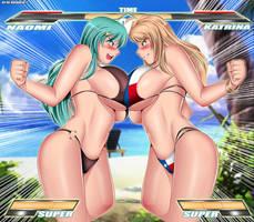 Oppai Battle: Naomi vs Katrina by Bushinryu11