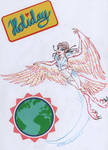 Harpy Halloween day 9 Holiday greetings Elfquest by RaptorLittleclaw