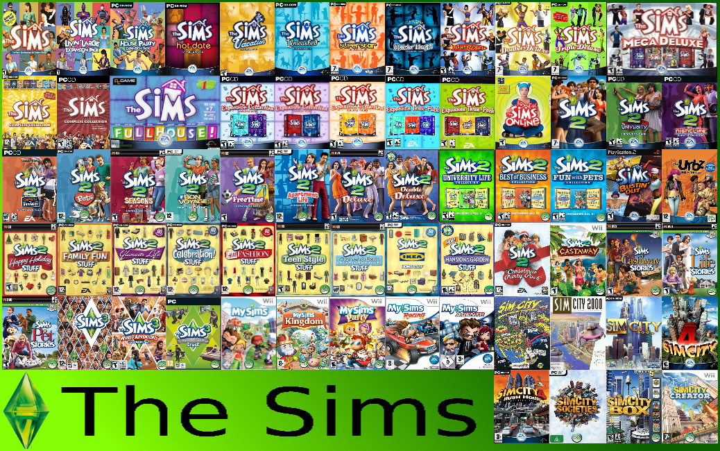 Sims 3 Games List In Order | Games World