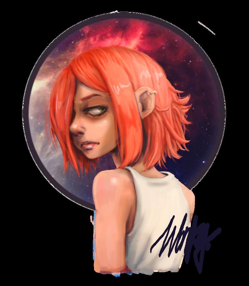 Galaxygirl by WonkyDinosaur