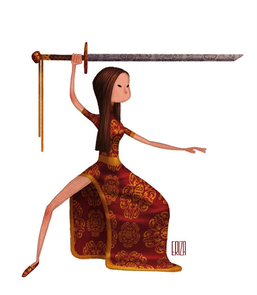 Female Samurai by artbygus