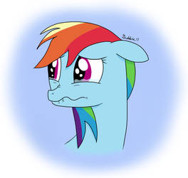 EQD Training Grounds Day 4: Rainbow Dash on Tears by coolpurpledudette