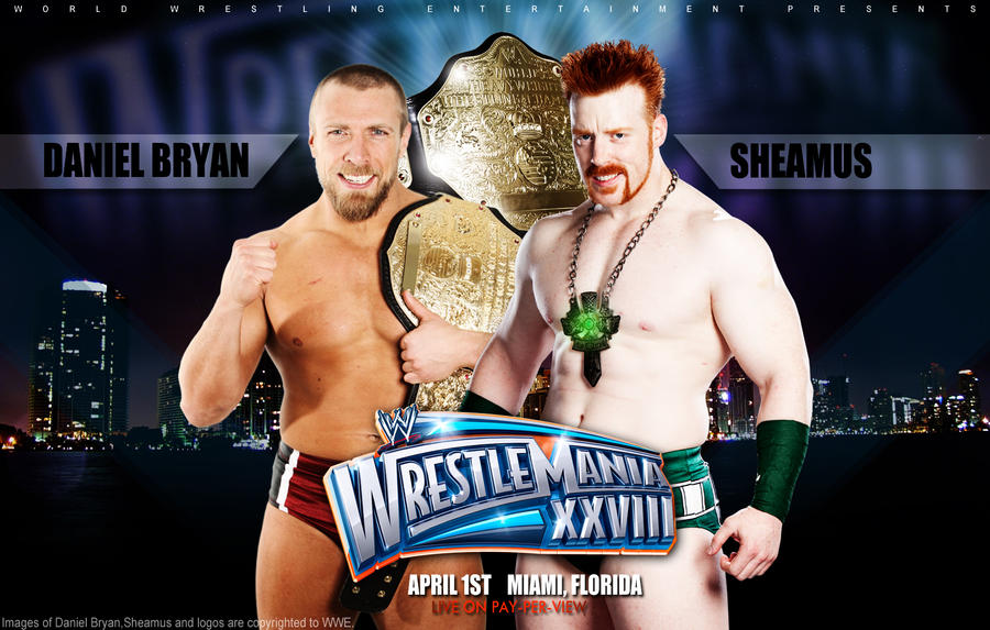 Sheamus vs. Daniel Bryan wallpaper by isharkfeli on DeviantArt