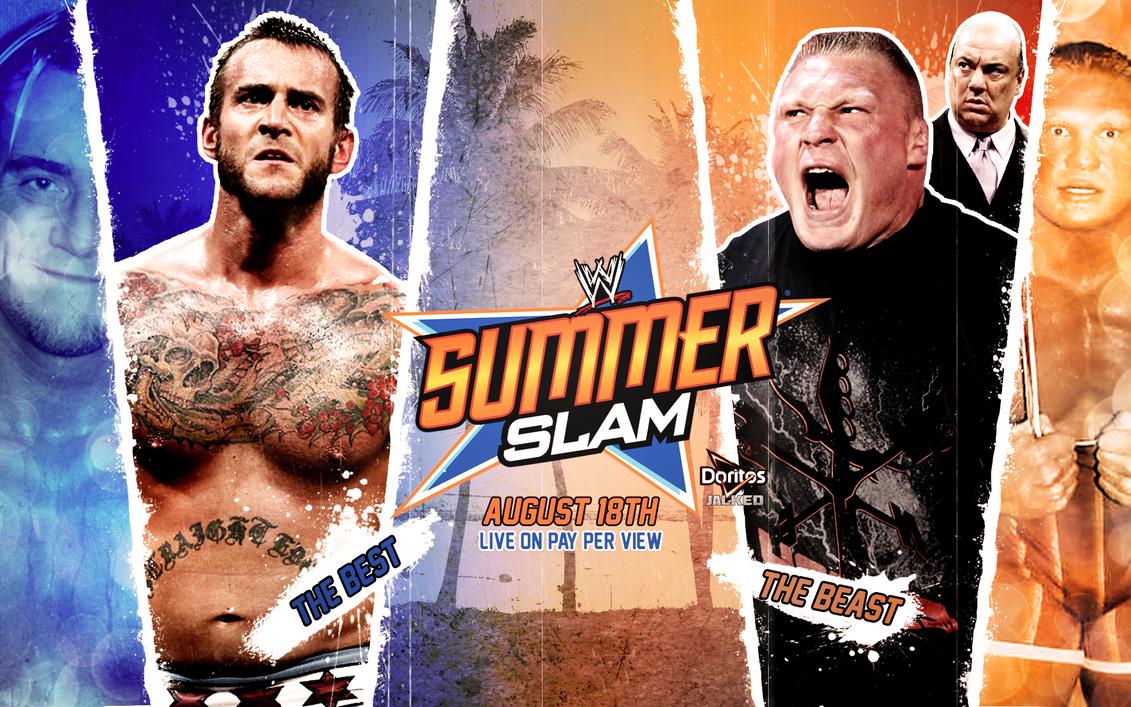 Brock Lesnar Summerslam Wallpaper By Isharkfeli