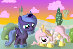 Commission: Celly and Princess Luna
