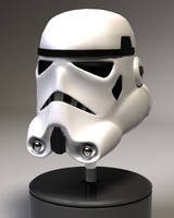 LowPoly Storm Trooper Helmet by Th4d