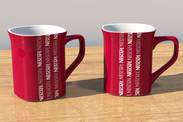 nescafe cup 3d test by Th4d