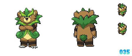 035 - Cool Grass Bear Fakemon