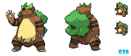 036 - Fierce Grass Bear Fakemon