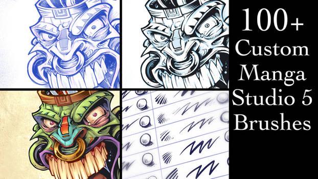Custom Manga Studio 5 Brushes