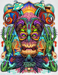 Psychedelic Tiki Creature-copyright