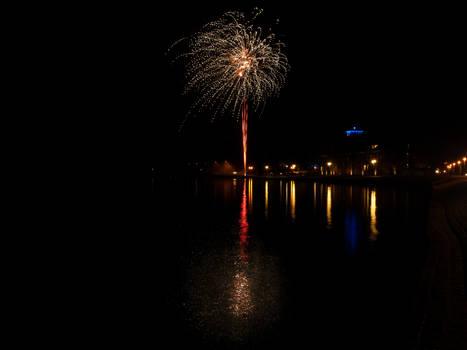 Firework in Stralsund
