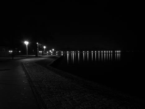 Stralsund at night