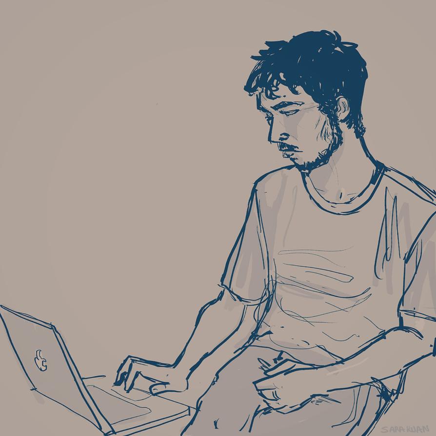Late night sketch by sarakuan