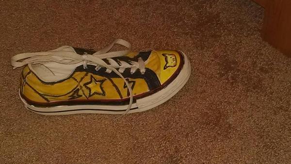 Pikachu Converse Shoes by YamakaiYoko