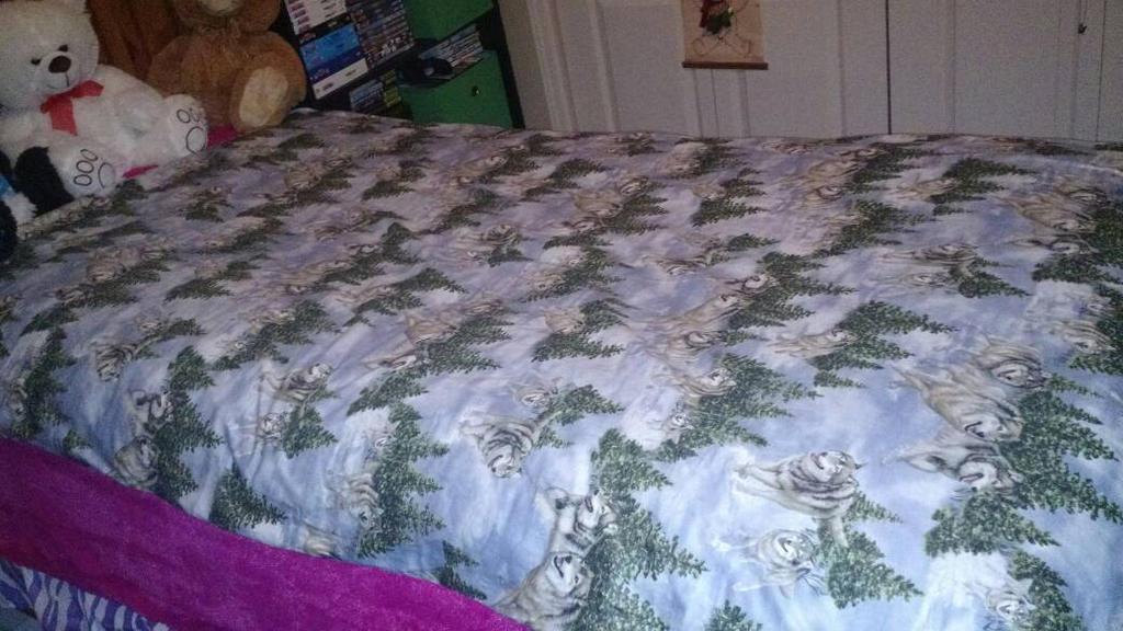 Christmas 2014 Tsuki Wolf Blanket by YamakaiYoko