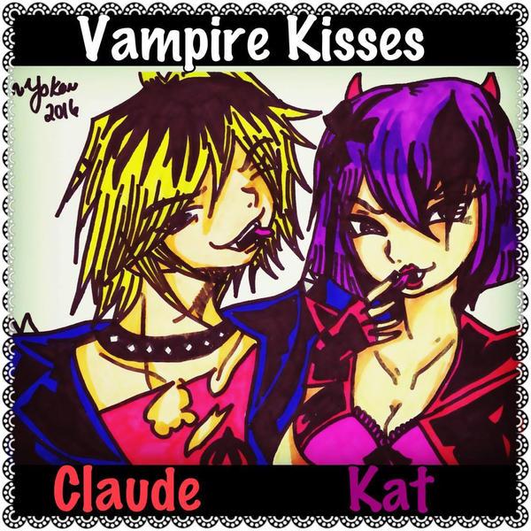 Vampire Kisses Fanart - Claude/Kat by YamakaiYoko