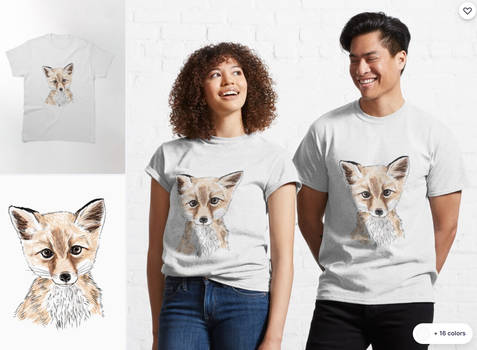 Fox Artwork T-shirt