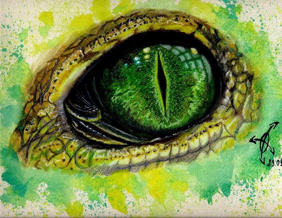 iguana eye painting - photo #1