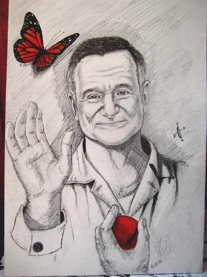 Robin Williams by Yume-no-Quimera