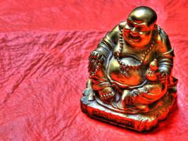 Shiny Buddha statue by tiptopland