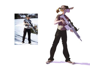 Girl  Gun by robinmitchell