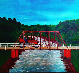 Tractor and Bridge Painting