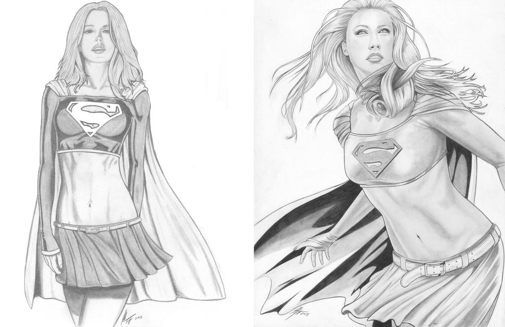 Supergirl - 2005 vs. 2015 by AdamTupper