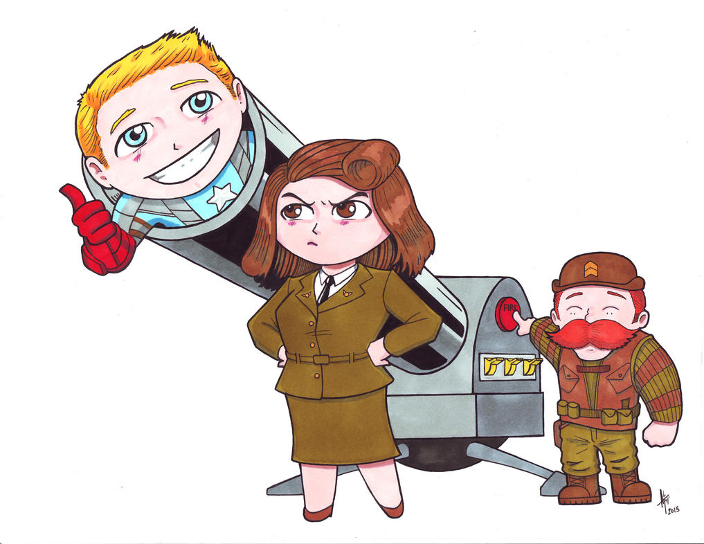 Chibi Cap, Peg and Dum - Troublemakers by AdamTupper
