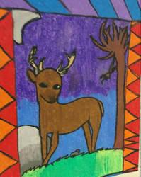 Deer from art class by Lux-Rei