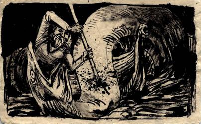 thor slaying jormungandr