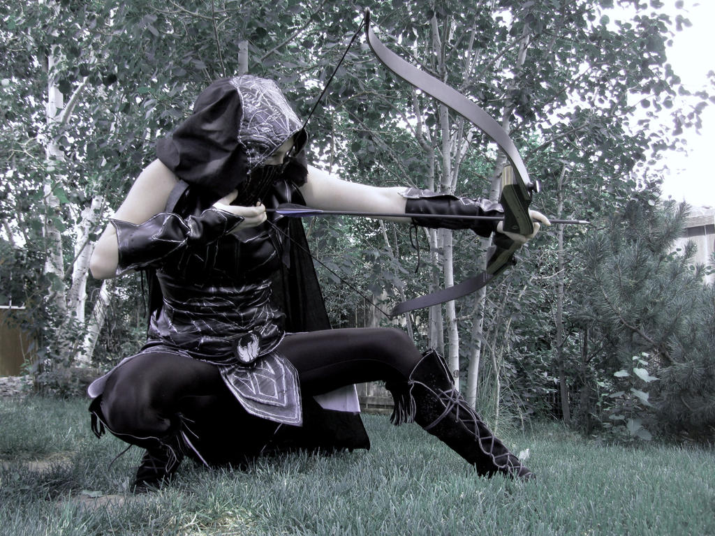 Sneak Shot--Skyrim Cosplay by audrey-vista