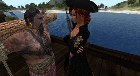 Blackbeard Prisoner of the Pirate Queen #2 by alpe4