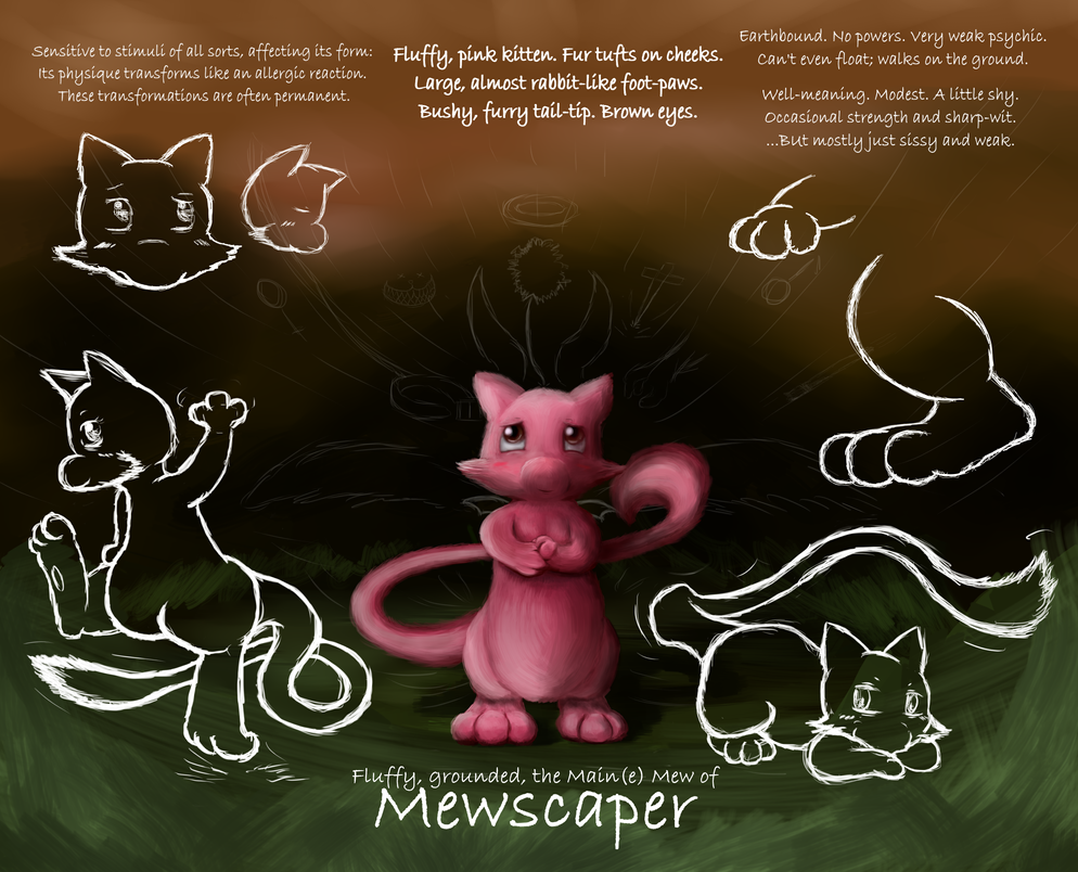 Mewscaper's Main(e) Mew [Reference] by Mewscaper