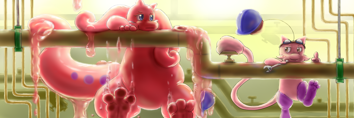 Hang in There! (Twitter Banner 2014- ) by Mewscaper