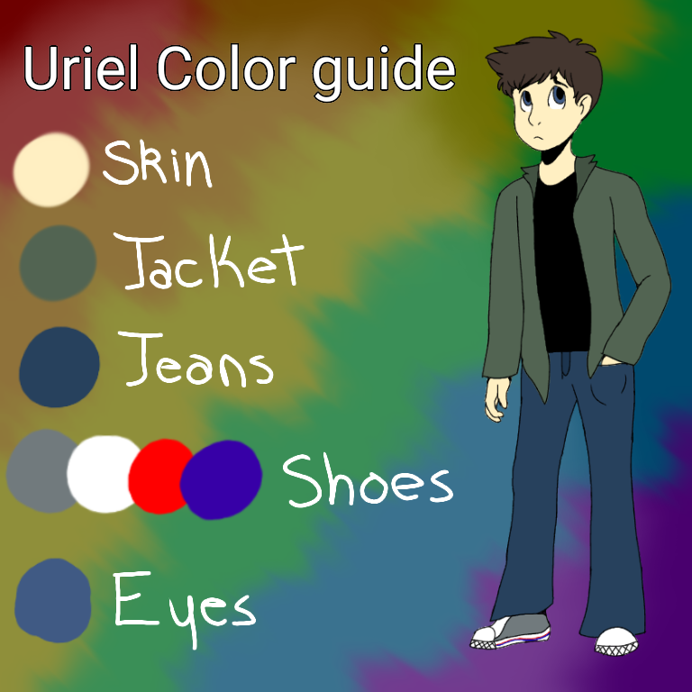 Uriel color guide by ThePinkFluff