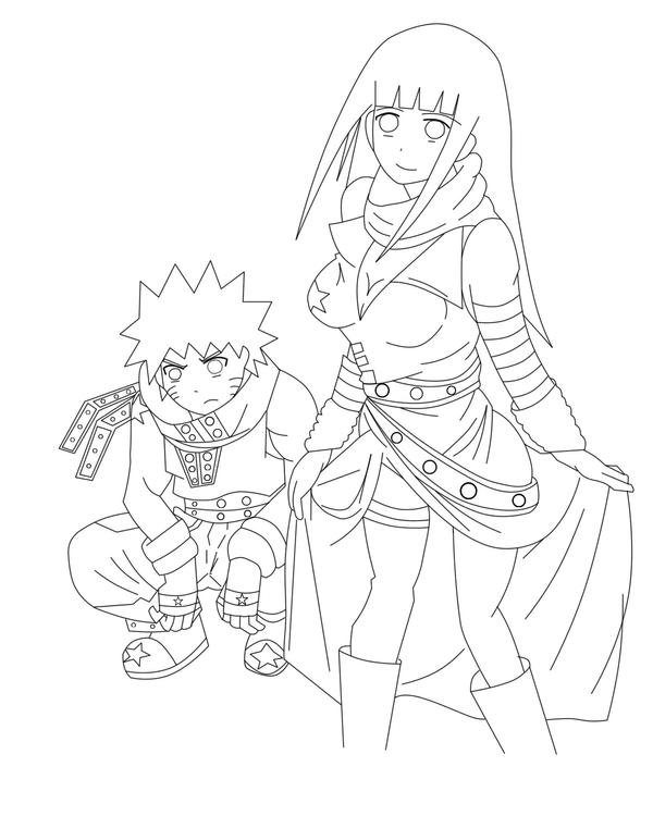 NaruHina in Soul Eater Lineart by MiaKa-CiD on DeviantArt