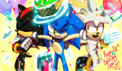 Sonic's 28th Birthday! +Triple S day by Soso713705