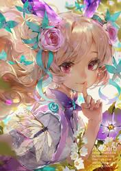 Butterfly girl by AkiZero1510