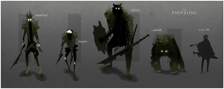 Enderling Spring Monsters by TheEnderling