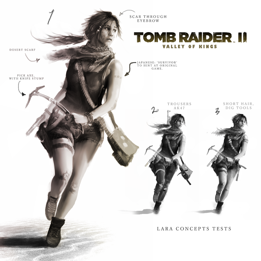 Shadow Of The Tomb Raider All Outfits Armor Costumes: Tomb Raider 2: Valley Of The Kings. Lara Concept By