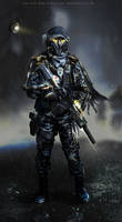 Japanese Police-Soldier by TheEnderling