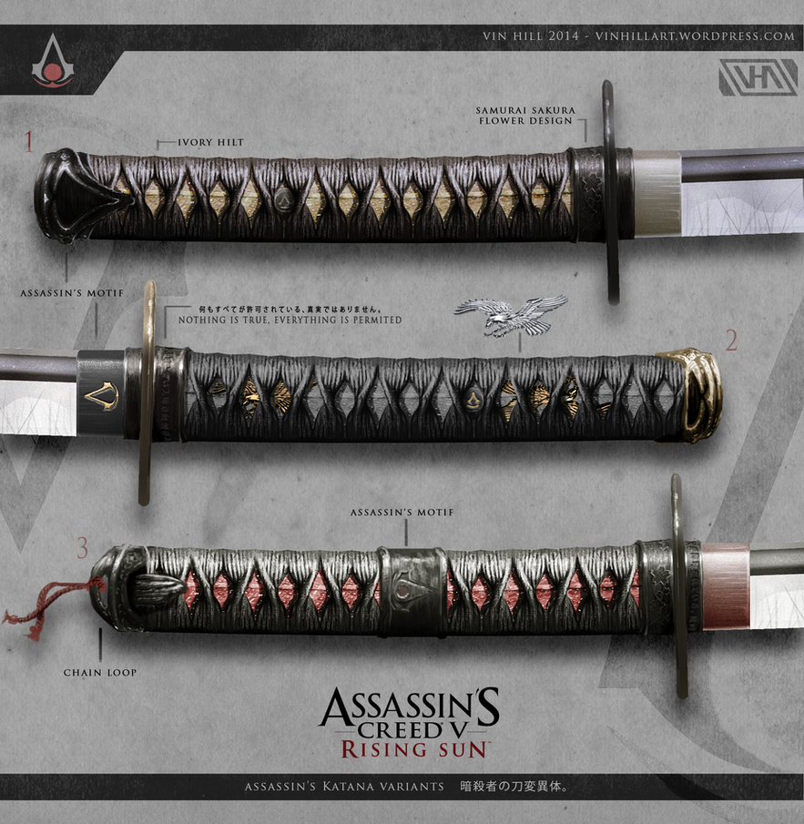 Assassin's Creed 5: Rising Sun - Katana Variants by ...