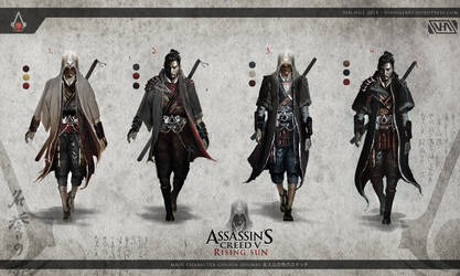 Assassin's Creed 5: Rising Sun - Assassin Variants by TheEnderling
